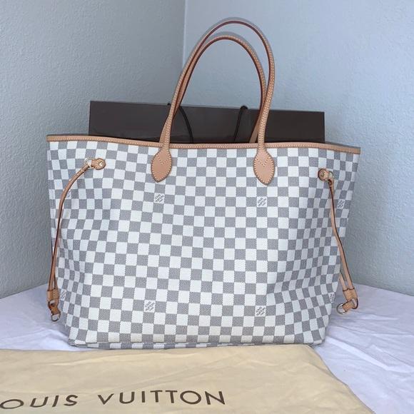Louis Vuitton Handbags - Sold. Louis Vuitton Neverfull GM Damier Azur